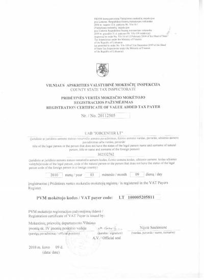 Valstybinė mokesčių inspekcija.